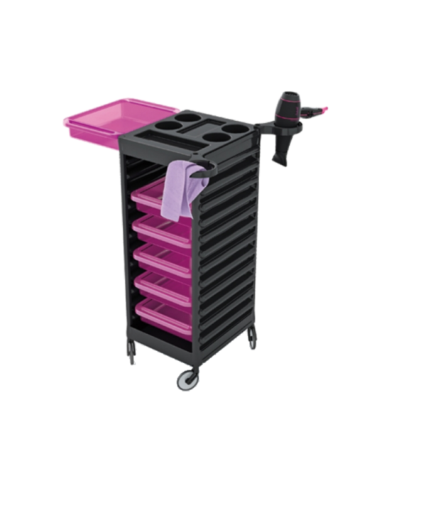 CERIOTTI EASY TROLLEY BLK - VIOLET DRAWERS