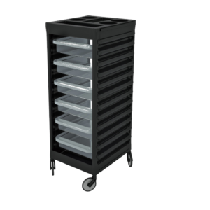 CERIOTTI EASY TROLLEY BLK - TRANSPARENT DRAWERS